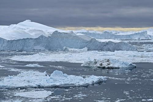 snow ice landscape shoreline greenland fjord iceberg fiord afzoomnikkor80200mmf28ded ilulisat