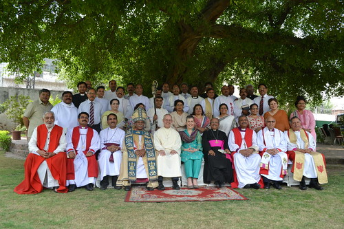 Church of Pakistan leaders with Archbishop and Mrs Welby