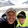 Reilly and me at a glacier at the Columbia Ice Fields near Banff National Park.