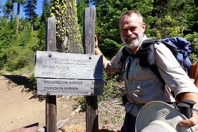 Oregon border on the PCT