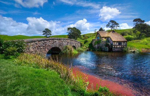 A Warm Afternoon in Hobbiton at the Water Mill