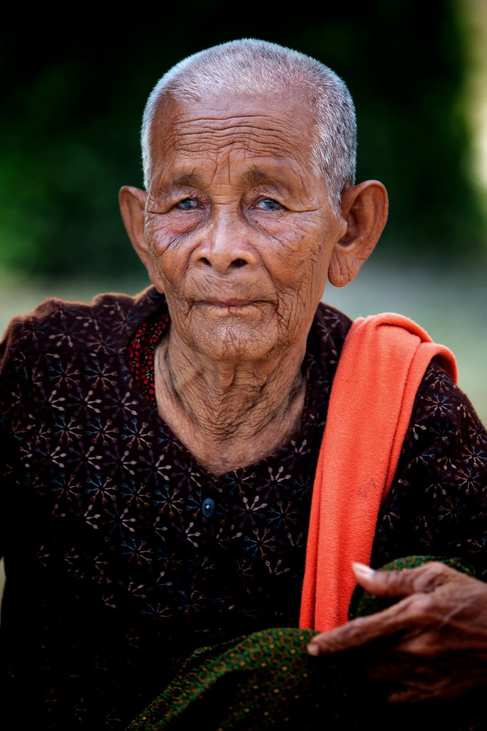 Portrait Of A Cambodian Lady