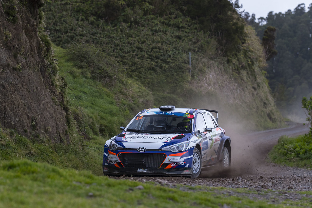 24 CASTRO Manuel  COSTA Luis  Hyundai I20 R5 Action during the 2017 European Rally Championship ERC Azores rally,  from March 30  to April 1, at Ponta Delgada Portugal - Photo Gregory Lenormand / DPPI
