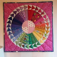 Mini quilt finished 😀fabrics Kaffe Fassett and Tula Pink