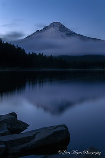 Blue hour over Mt Hood