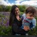 Mother and anjoying Los Alerces park, Patagonia