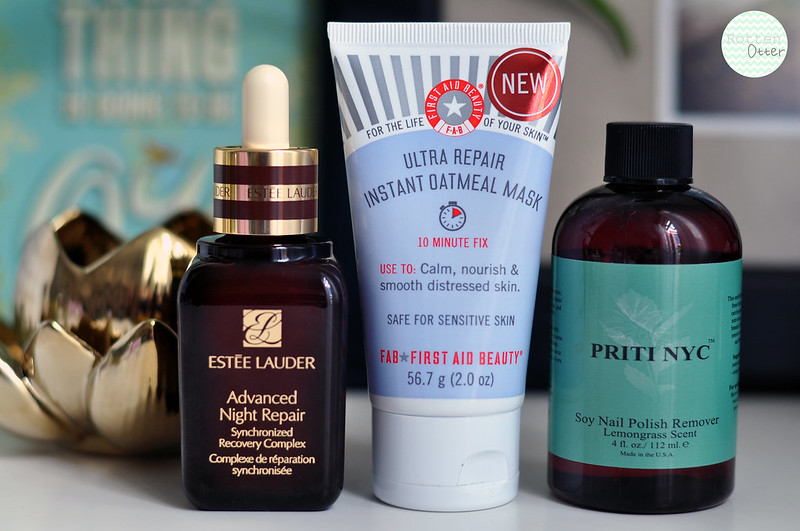mini reviews 010 estee lauder advanced night repair serum first aid beauty instant oatmeal face mask priti nyc soy nail polish remover rottenotter rotten otter blog