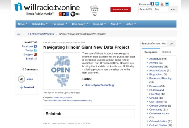 Navigating Illinois' Giant New Data Project | The Afternoon Magazine | Illinois Public Media
