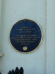 Photo of Charles Lutwidge Dodgson blue plaque