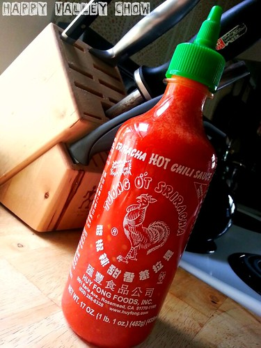 Homemade Sriracha from Happy Valley Chow.