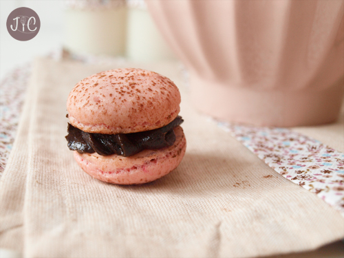 Chocolate and Strawberry Macarons