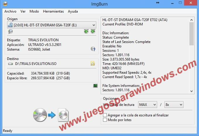 Imgburn 2.5.8.0 Descargar ESPAÑOL
