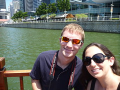 Ryan and Kristen on a Singapore boat tour
