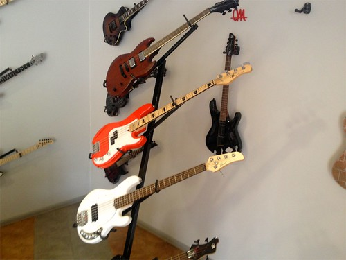 Mayones basses, including the Flame brand (white bass)
