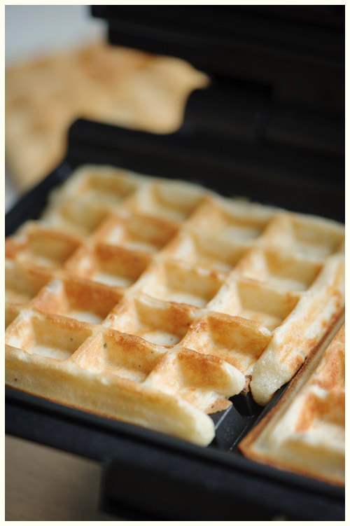 Parmesan & Black Pepper Waffles