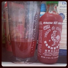 Sriracha simple syrup, just because.