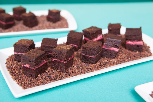 Raspberry brownies by Gramercy Tavern