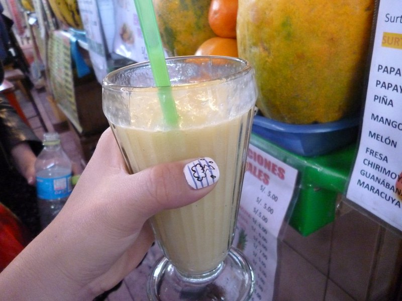 Super healthy juice at San Camilo Market