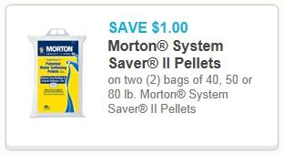 $1/2 Morton System Saver II Pellets Printable Coupon - The