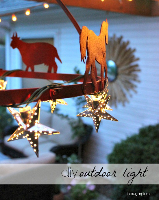 Hi Sugarplum | DIY Outdoor Light