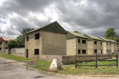 Fake village houses