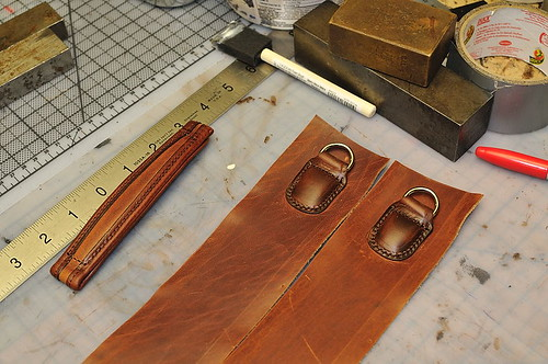 Custom Mitchell Briefcase: Shoulder Strap Hinges