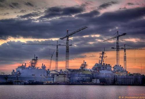 virginia ship crane va shipyard norfolkvirginia generaldynamics shiprepair elizabethriver metromachineimperialdocks