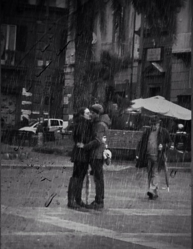 Kissing under the rain by Sabry Ardore