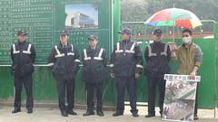 2010年12月,石雕公園護樹志工到最後關頭仍不願意放棄希望。