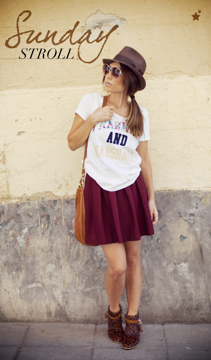 street style barbara crespo sunday stroll franklin and marshall tshirt outfit