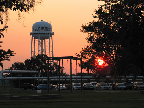 tree sc usmc sunrise watertower graduation southcarolina marines parisisland usmcrd