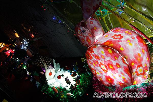 Rabbit shaped lanterns for the lantern design competition