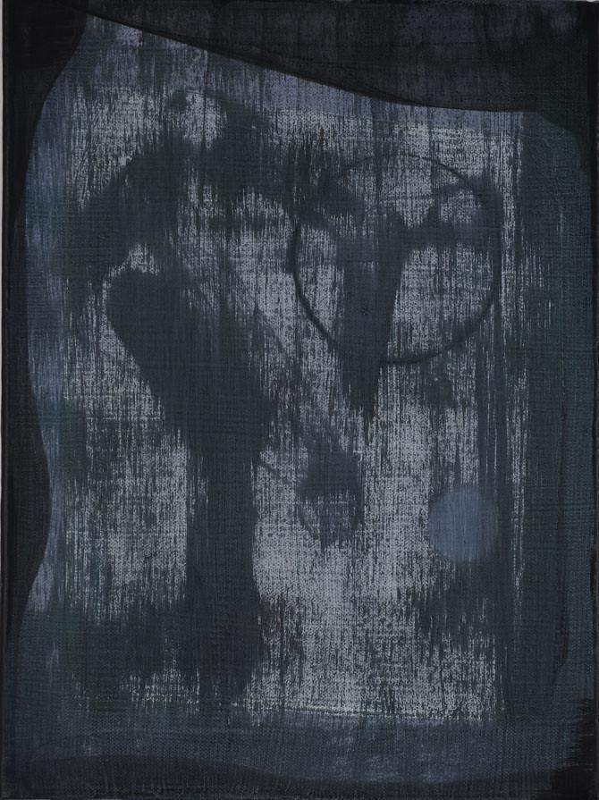 CHRISTINA CHIRULESCU o.T, Öl, Tusche auf Lw, 40x30cm, 2013