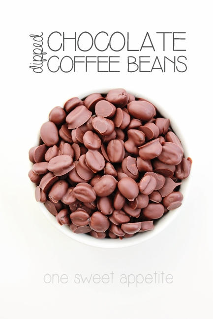 chocolate dipped coffee beans