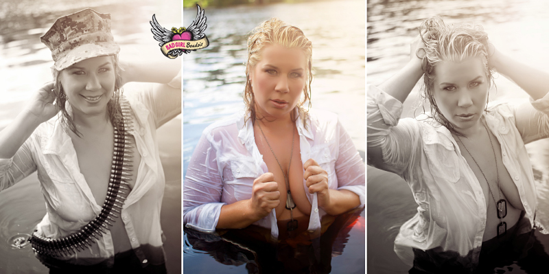 Outdoor River Water Boudoir Photos