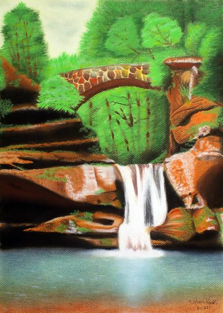 Cachoeira e ponte