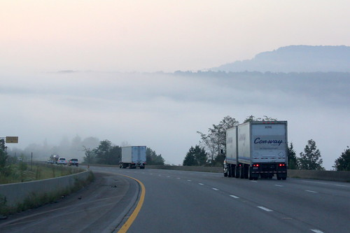 Coming down Monteagle in the Fog