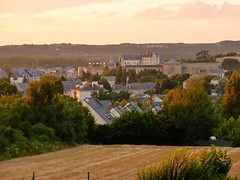 Evening view of Amboise from the hotel