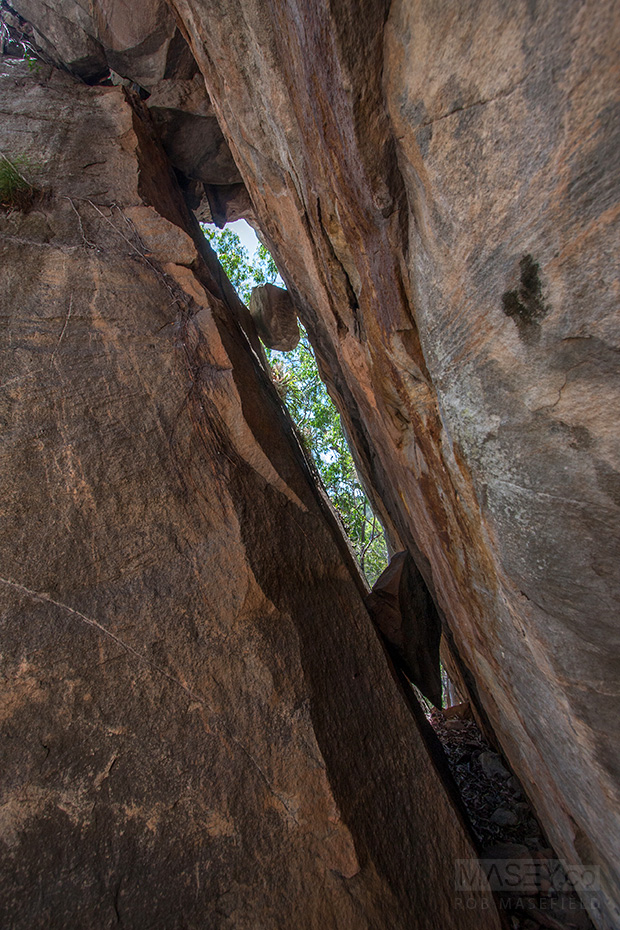 Exploring the impressive 'King Orchid Crevice'.