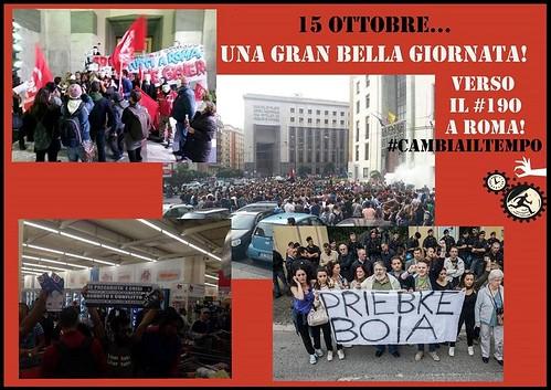 15 ottobre: una gran bella giornata! Verso il 19 a Roma!