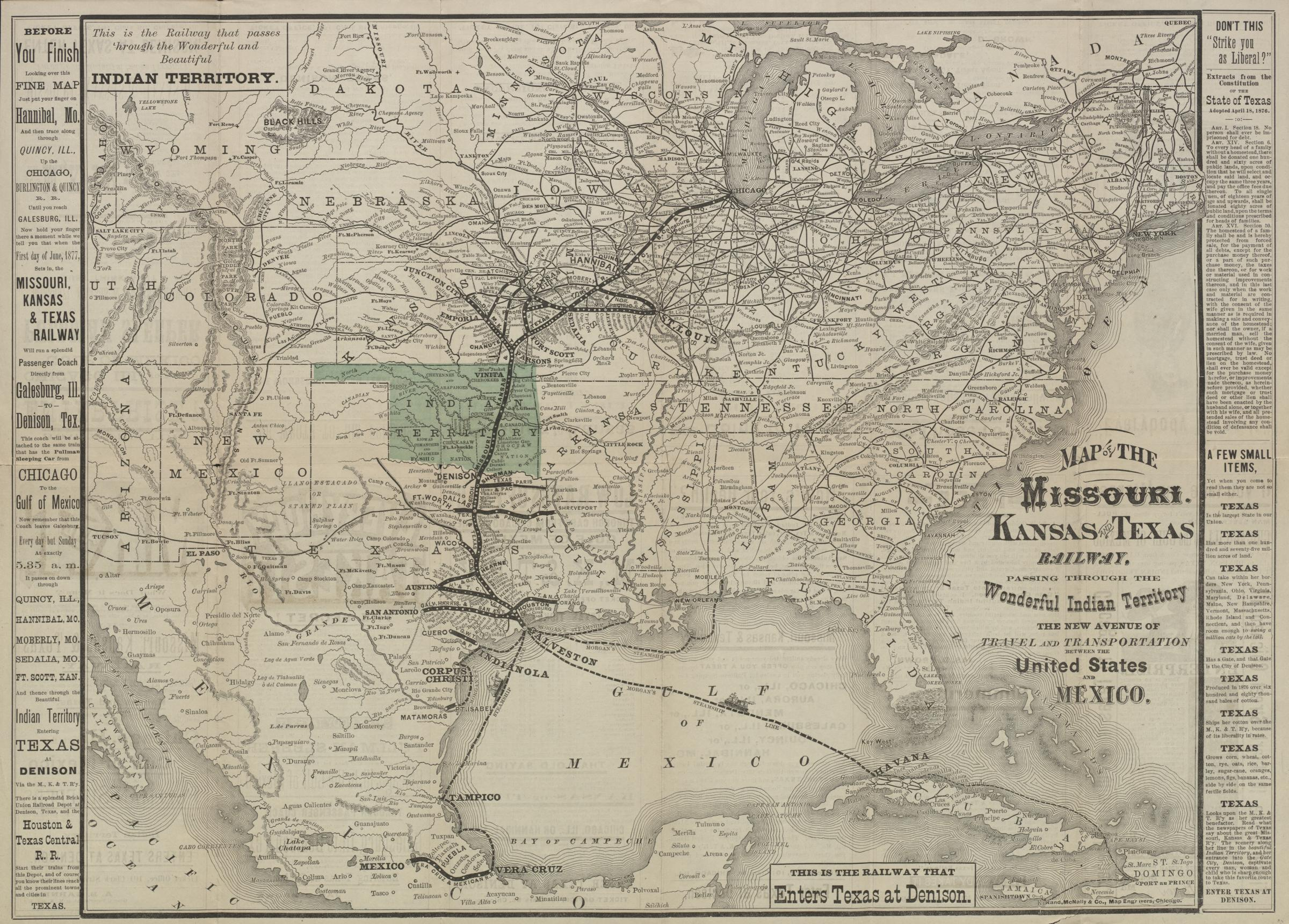 Map of the Missouri-Kansas-Texas (KATY) Railroad System 1877 [2400 Katy Railroad Map on norfolk southern railroad map, union pacific railroad map, rock island railroad map, columbia railroad map, jacksonville railroad map, raleigh railroad map, el paso county railroad map, katy trail, lynchburg railroad map, knoxville railroad map, u.s. railroad map, mkt railroad map, western pacific railroad map, north missouri railroad map, katy flyer passenger train, wabash railroad map, beaumont railroad map, santa fe railroad map, missouri pacific railroad map, new york erie railroad map,