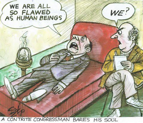 Contrite Congressman