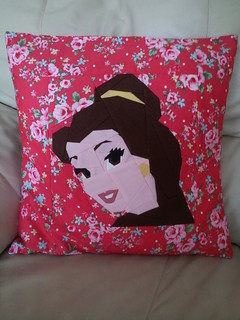 belle cushion paper pieced pattern from fandom in stitches