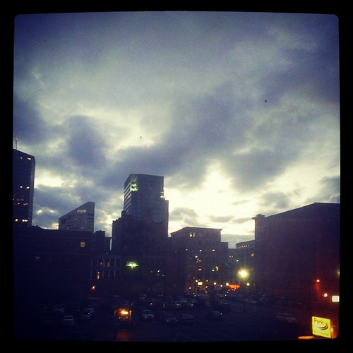 Evening in downtown Cincinnati...