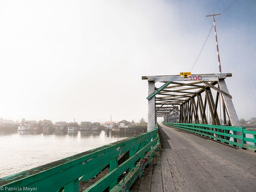 A foggy day on Westham Island Bridge