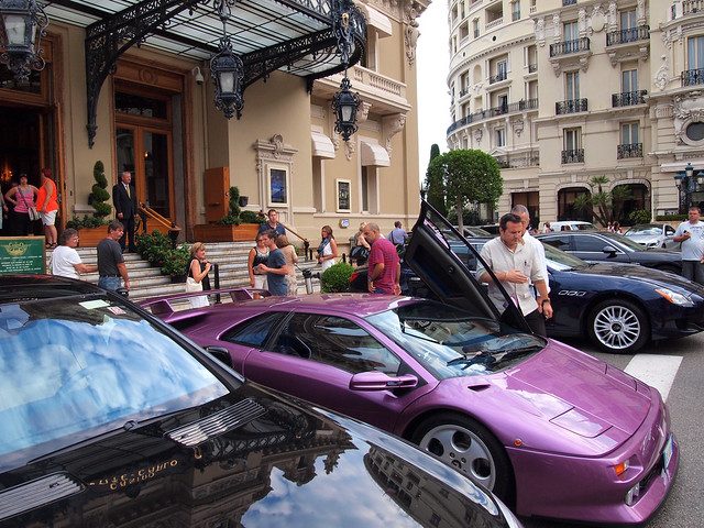 Cars outside the Monte Carlo Casino