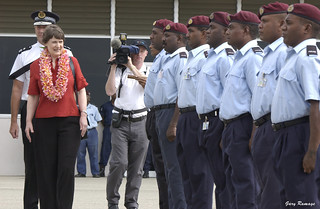 Guard of honour for New Zealand Prime Minister Helen Clarke. Solomon Islands 2003. Photo: © Gary Ramage, Australian Defence