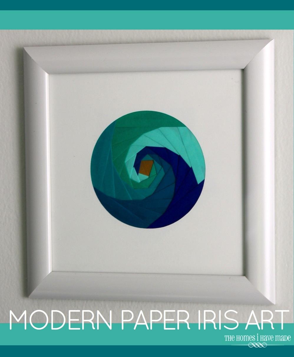 Iris Paper Folding Art-001