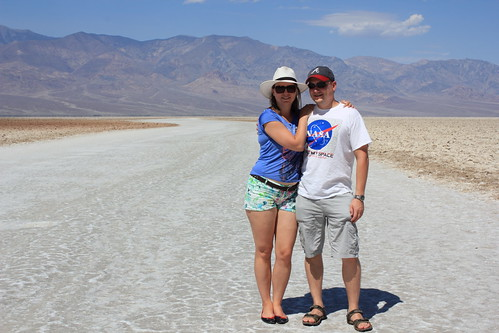 Posing at Badwater