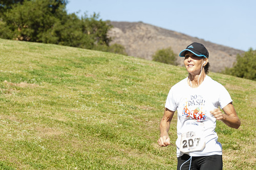 All downhill from here, across grassy hill at Old West Race in Temecula by Crispin Courtenay, on Flickr